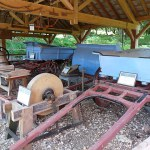 Totally unrelated photograph of old farm implements on Brownsea Island, Poole, U.K. (** see note below)