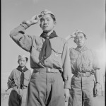 Boy Scouts Flag-Raising Ceremony, Heart Mountain Relocation Center, Heart Mountain, Wyoming, 1943