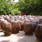 Big earthernware jars used to make kimchi ... that;s a whole lot of pickled sauerkraut!  (all photo credit goes to Wikipedia on this one)