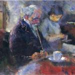 At the coffee table, by Edvard Munch, 1883