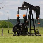 Pumpjack in Glennpool oil field, Oklahoma