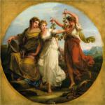 """Beauty, supported by Prudence, Scorns the Offering of Folly"", by Angelica Kauffman - 1780 (an study in allegory, now on exhibition at the Kadriorg Palace, Art Museum of Estonia, Tallinn, Estonia)"