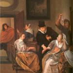 """Doctor's Visit"" - Jan Steen, 1663  (not that we'll ever see house calls ever coming back)"