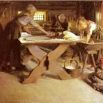 """Baking the bread"" - Anders Zorn, 1889"